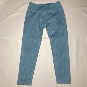Beyond Yoga Textured Capri Leggings Blue Size S